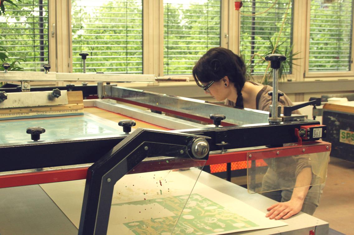 Jennifer van de Sandt - Hier gibt es keine Baeren - Siebdruck - Buchkunst