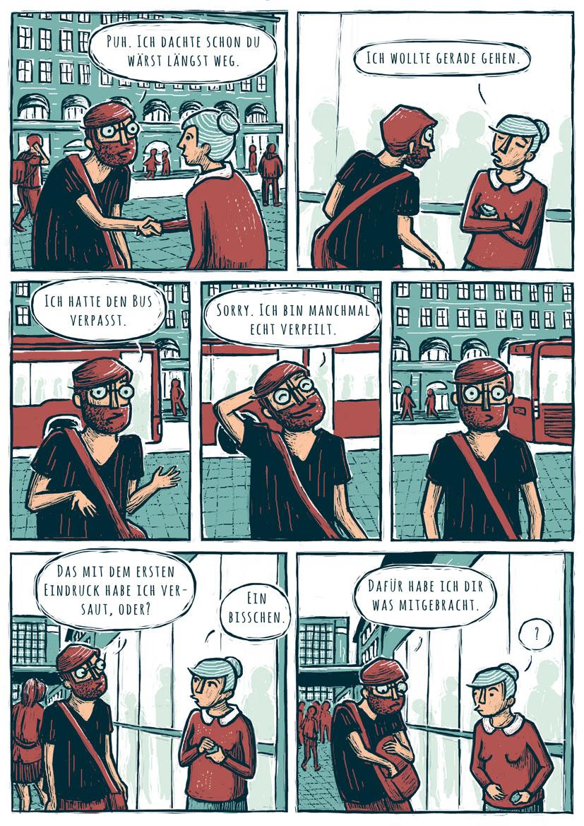Jennifer van de Sandt Tinder Comic