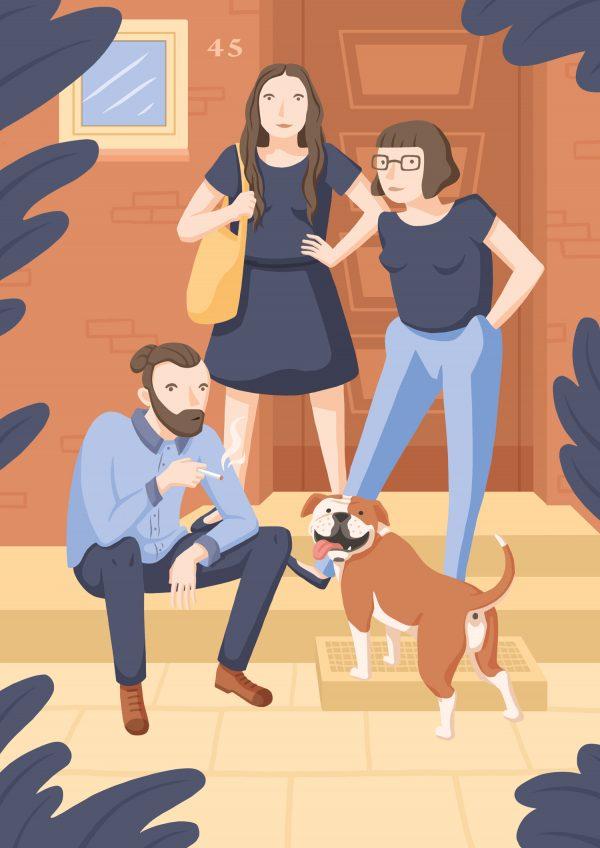 Portrait Familieneportrait Illustration Hamburg