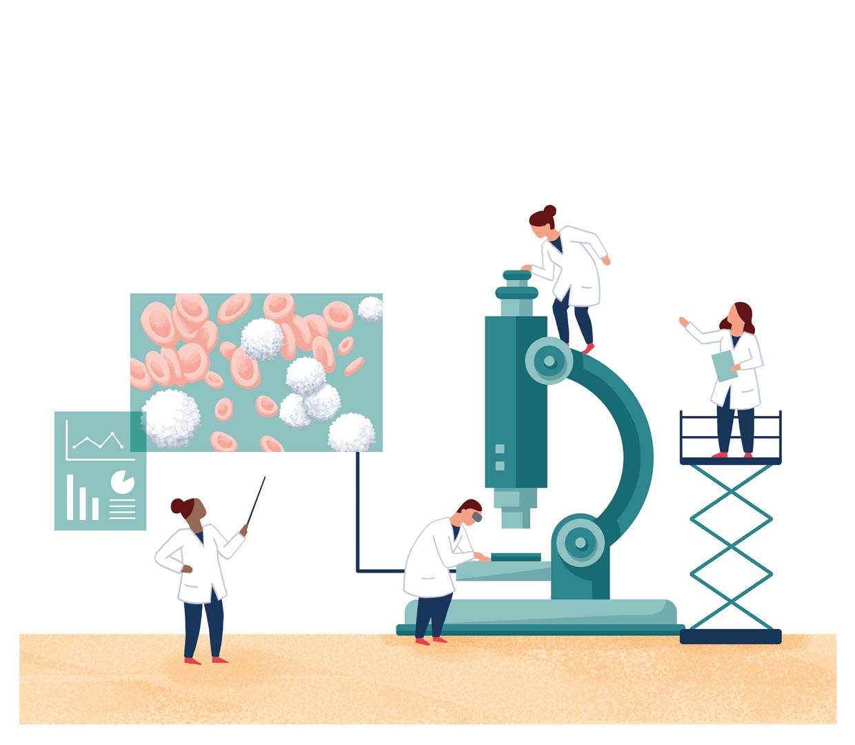 Mikroskop Editorial Illustration