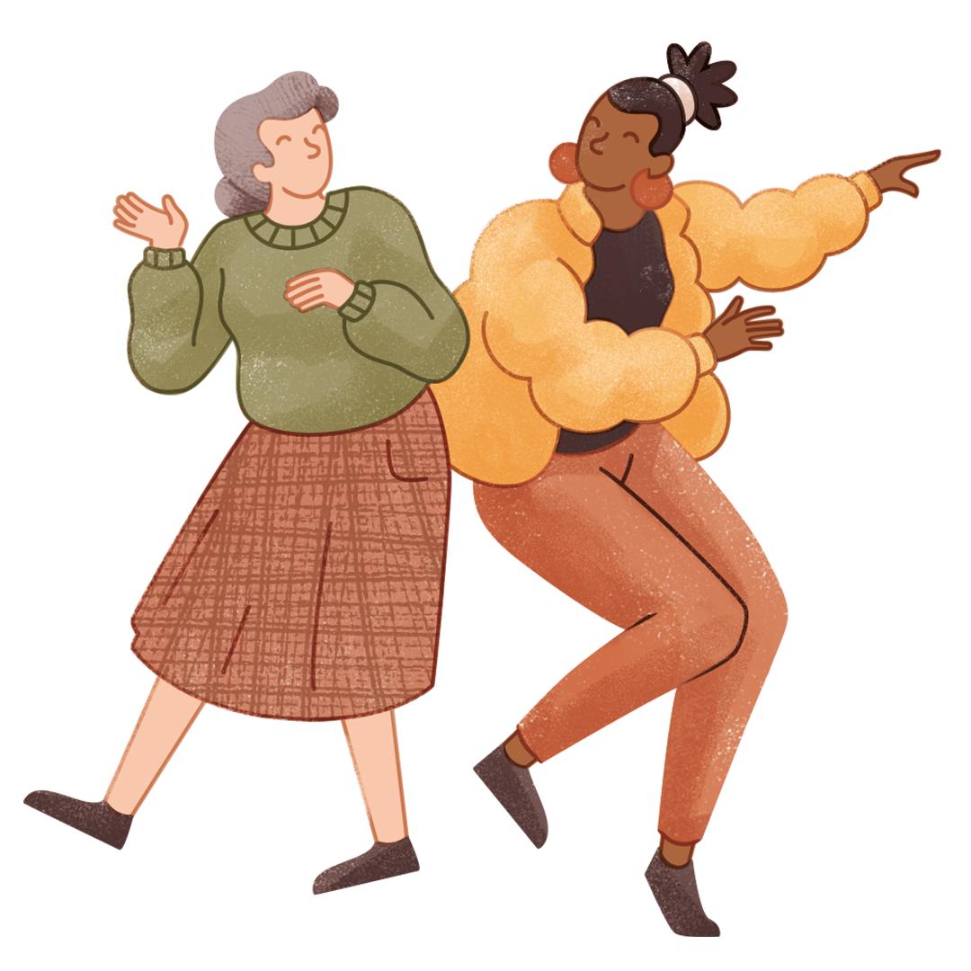 Tanzen Divers Lebensfreude